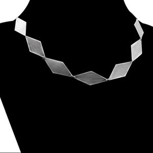 Jewelry - Sterling Silver Angular Necklace Modern